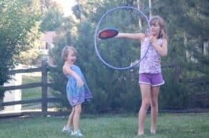 frisbee hoop