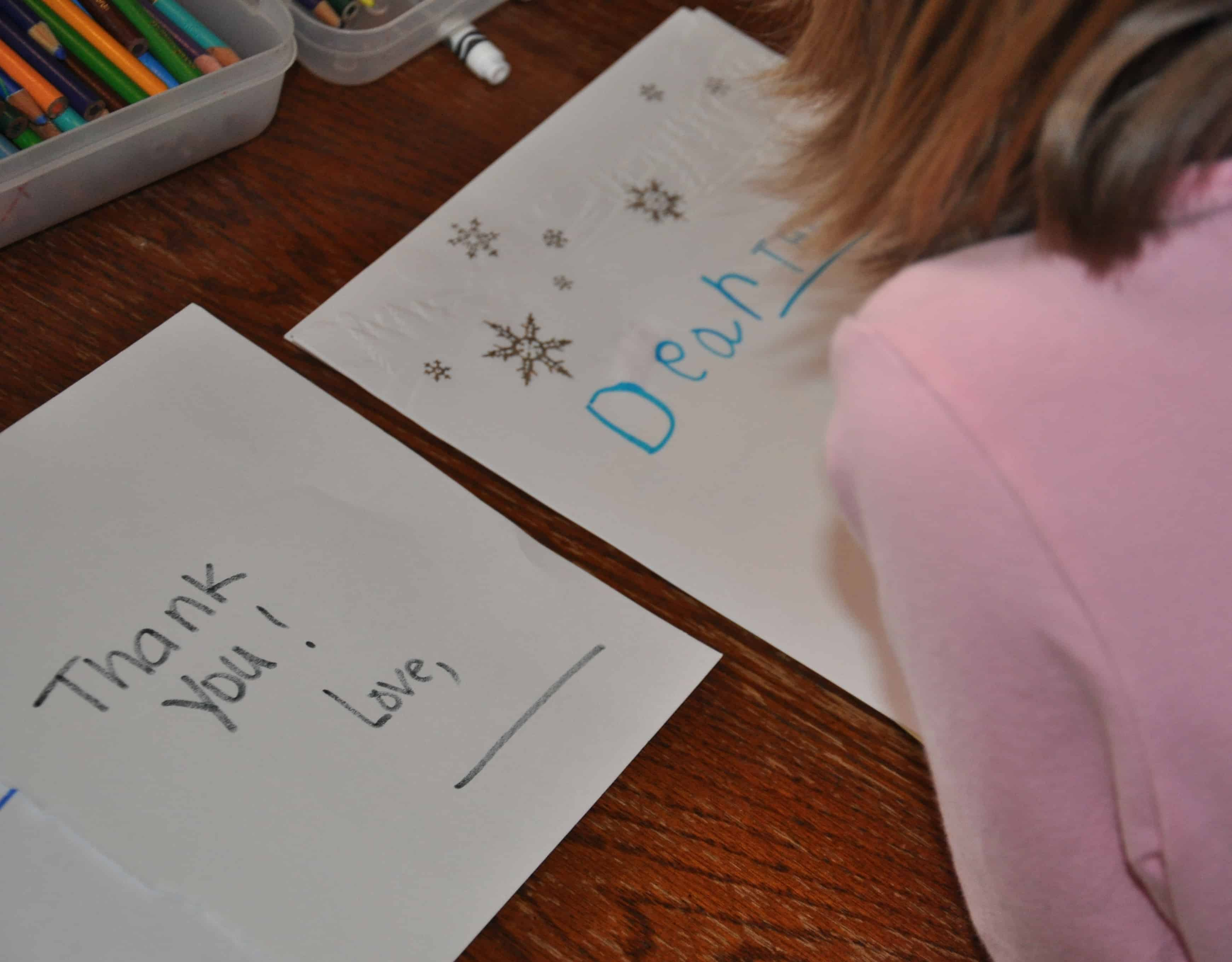 kids can write thank you notes