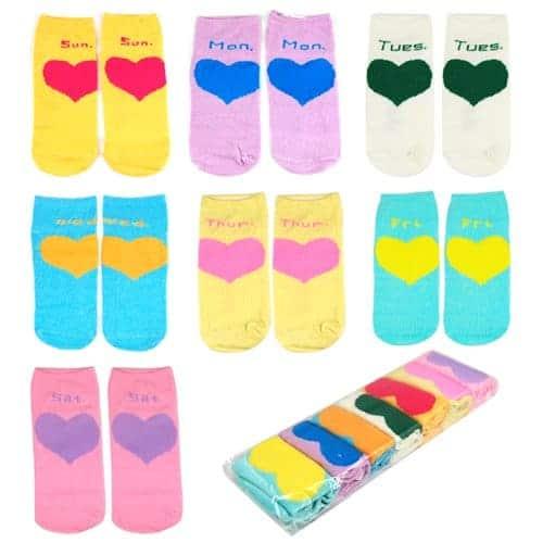 Days of the Week Socks Girls
