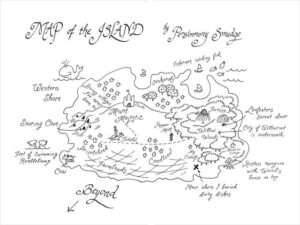 how to draw an island map