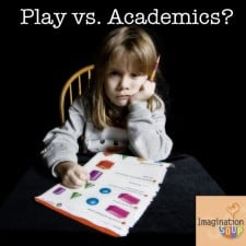 Play vs. Academics 225x225 Flash Cards or Finger Paints: Should Academics or Play Be the Goal of Preschool?