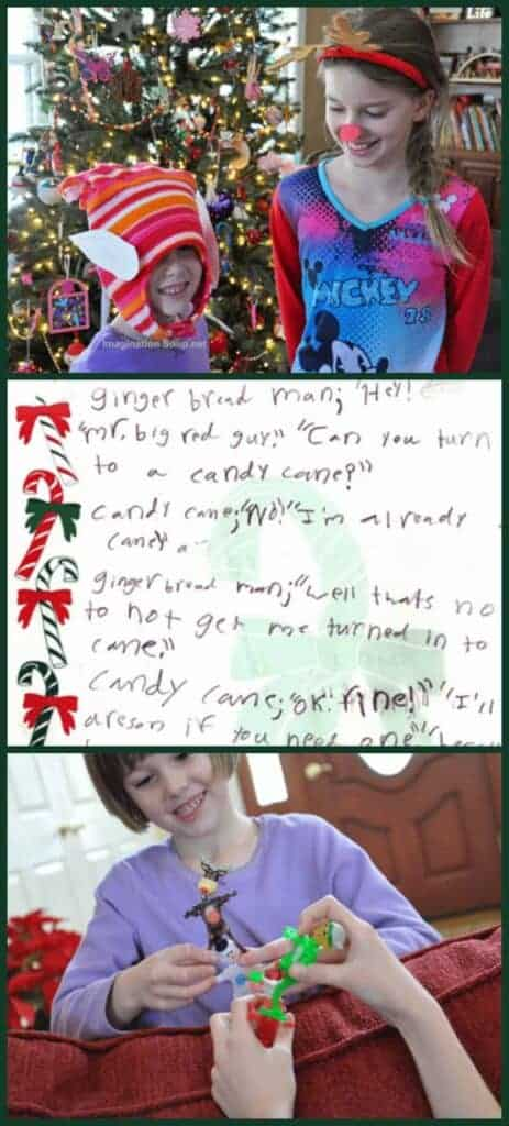 Write and Perform Your Own Christmas Play fun Christmas activity for kids -- write a play