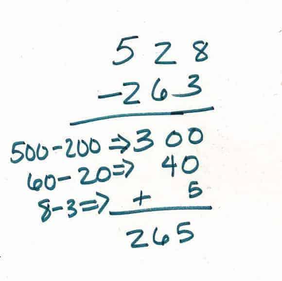 how to teach the subtraction algorithm