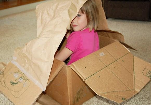 airplane box Toys That Require Imagination . . . Cardboard