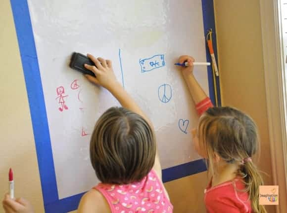 Write on the Walls! DIY Whiteboards