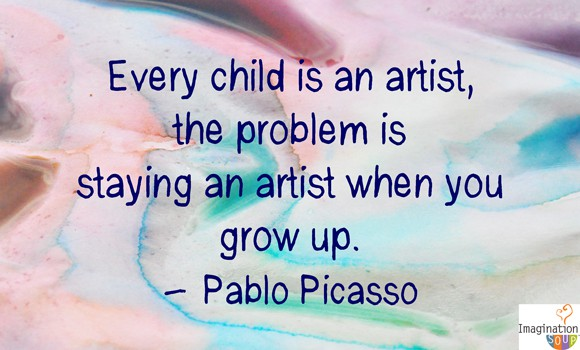 pablo picasso creativity quote 5 Steps to Raising a Creative Child