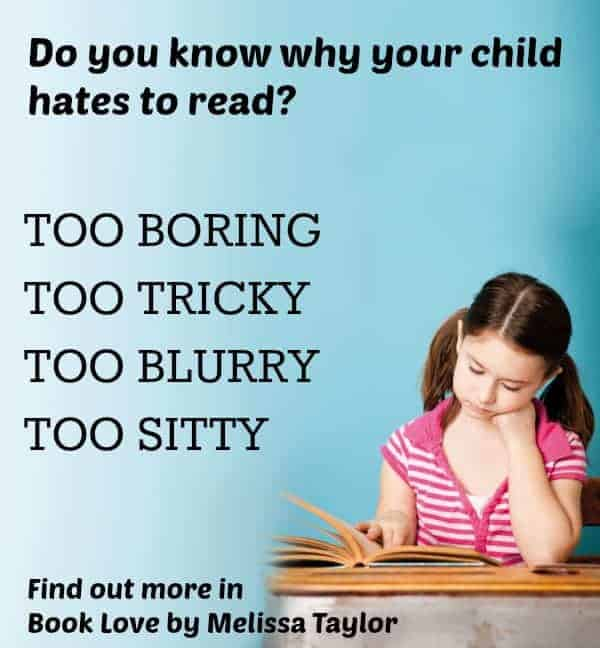 reasons kids don't like to read