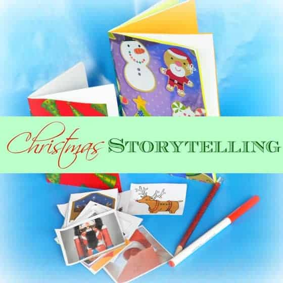 Chirstmas storytelling text 2 DIY Christmas Storybook with Printable Story Starters