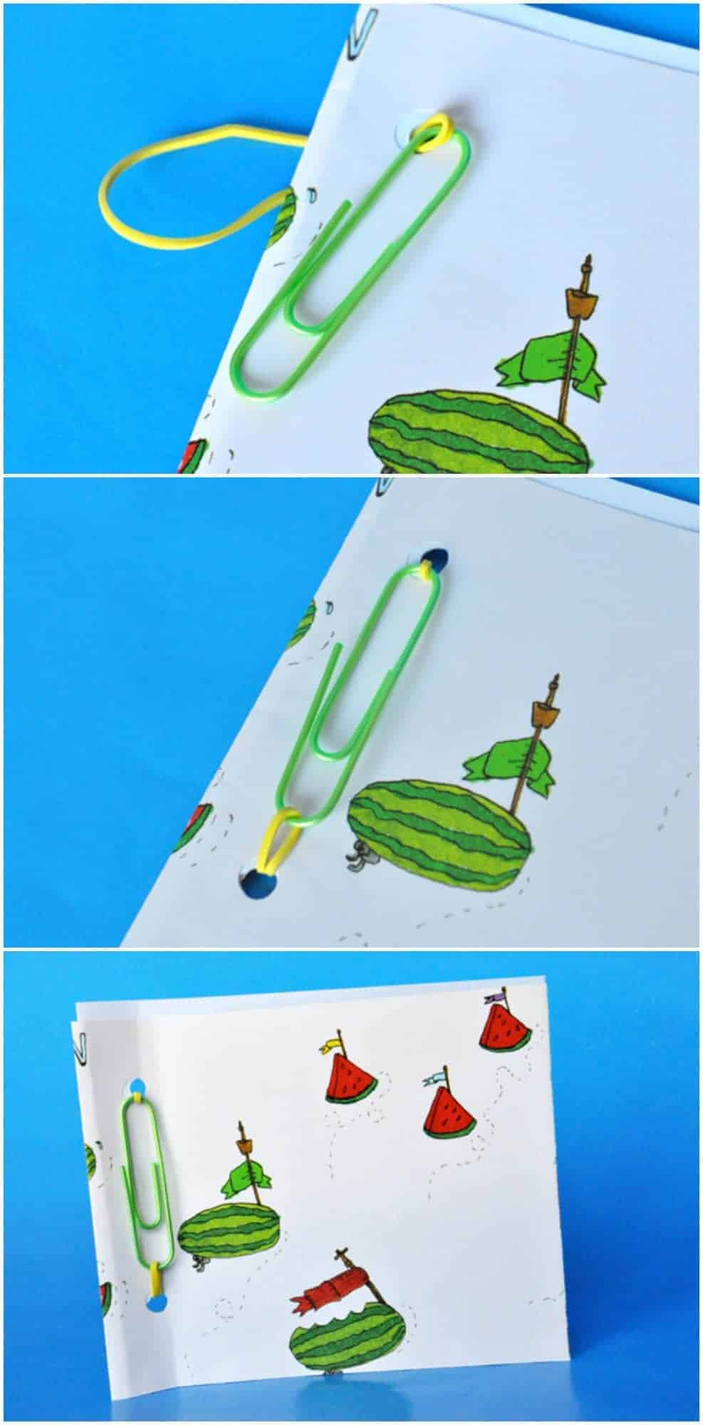 how to make a paperclip book