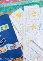 summer passport printable