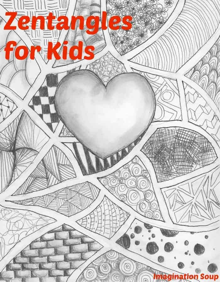 learn how kids can make zentangles