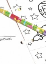 Mix and Match Printable Coloring and Writing Book for Back to School