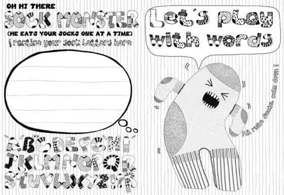Monster Bubble Writer