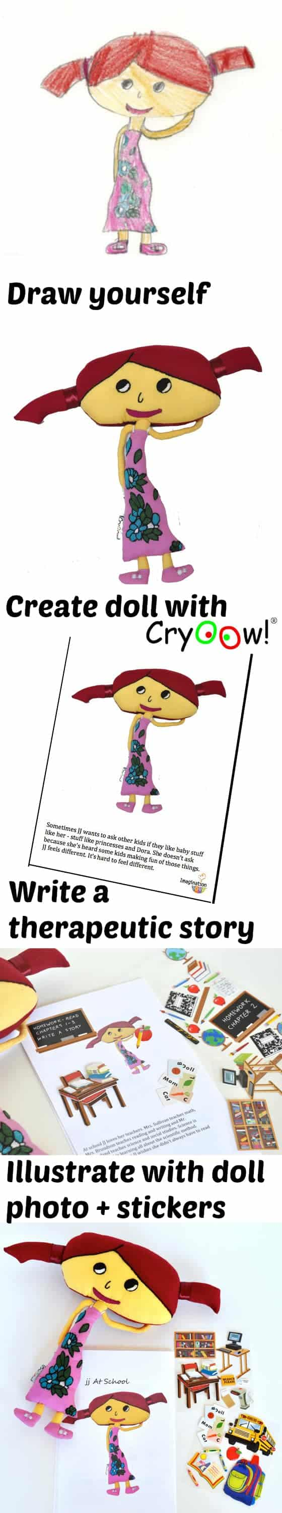 Cryoow! doll therapeutic stories for kids