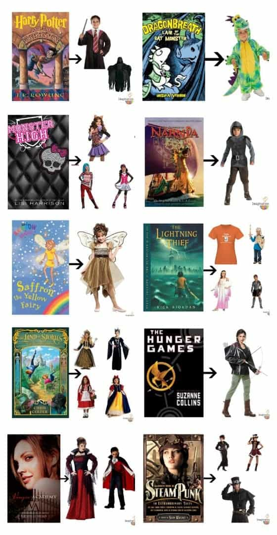 book character costumes for kids and teens