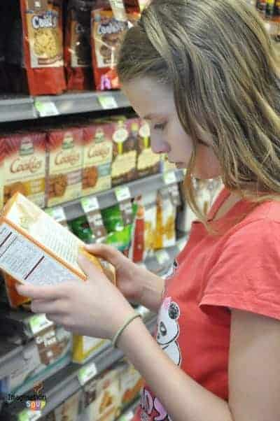 read food labels and ingredients