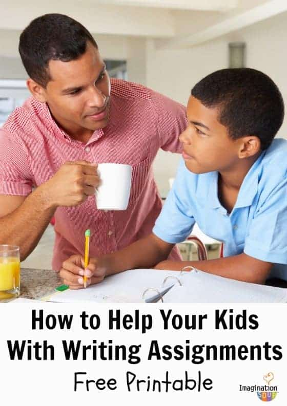 Help your child with writing assignments - free printable