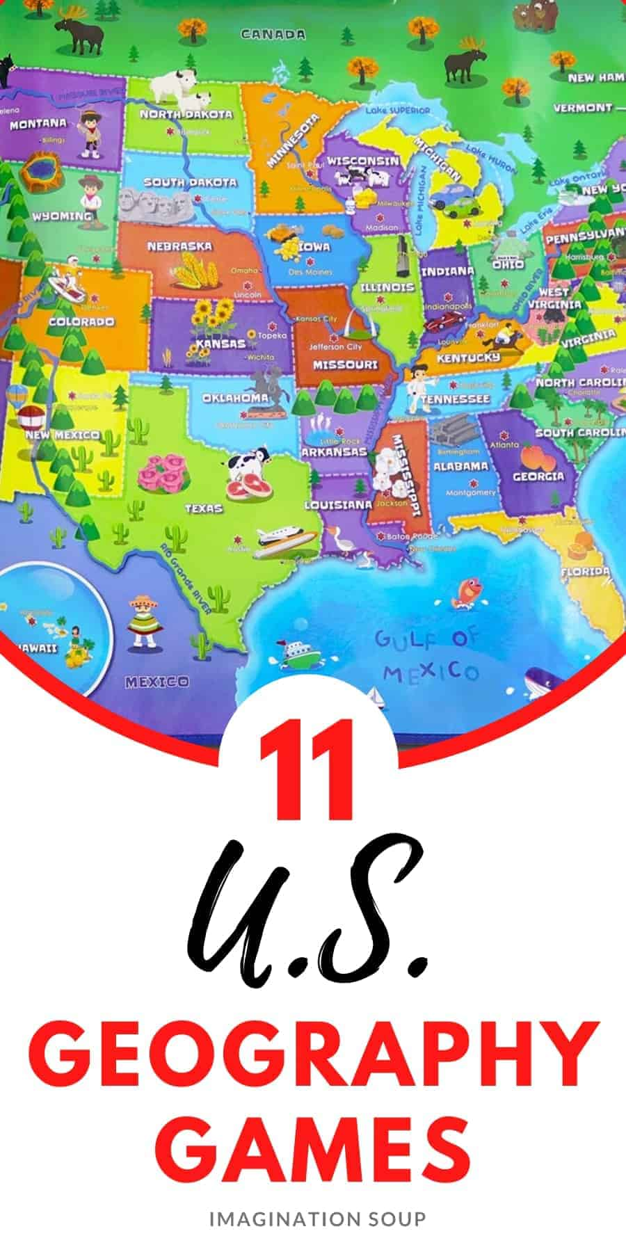 U.S. Geography Games & Puzzles