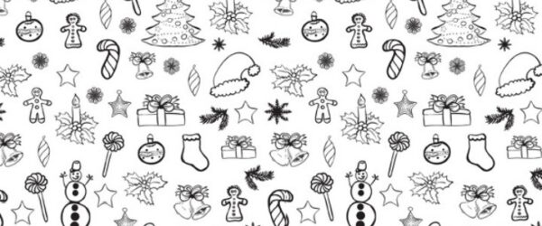 Printable Christmas Doodle Coloring Page