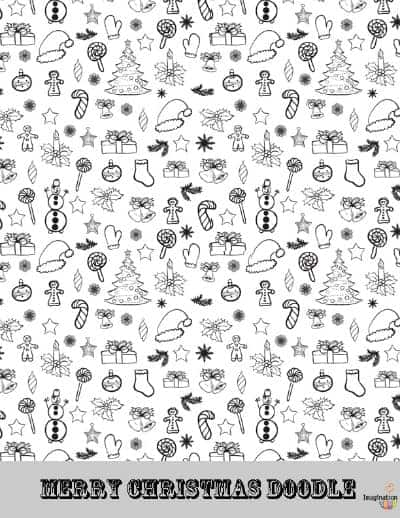 - Printable Christmas Doodle Coloring Page Imagination Soup