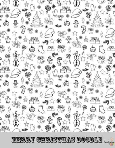 free Christmas printable coloring page