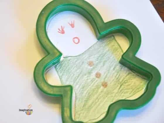 Gingerbread Cookie Cutter as Stencil