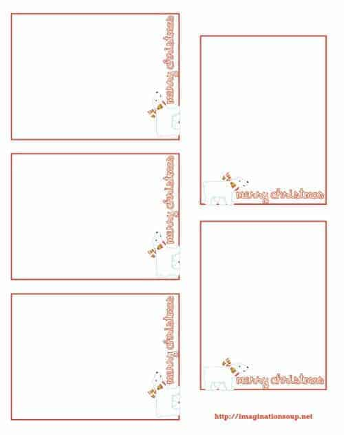 Printable Christmas Thank You Notes for Kids