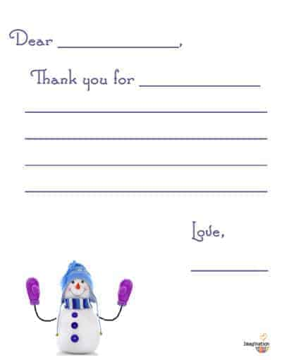 Free Printable Christmas Thank You Notes for Kids - Imagination Soup