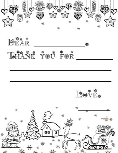 Free Printable Christmas Thank You Notes For Kids  Imagination Soup