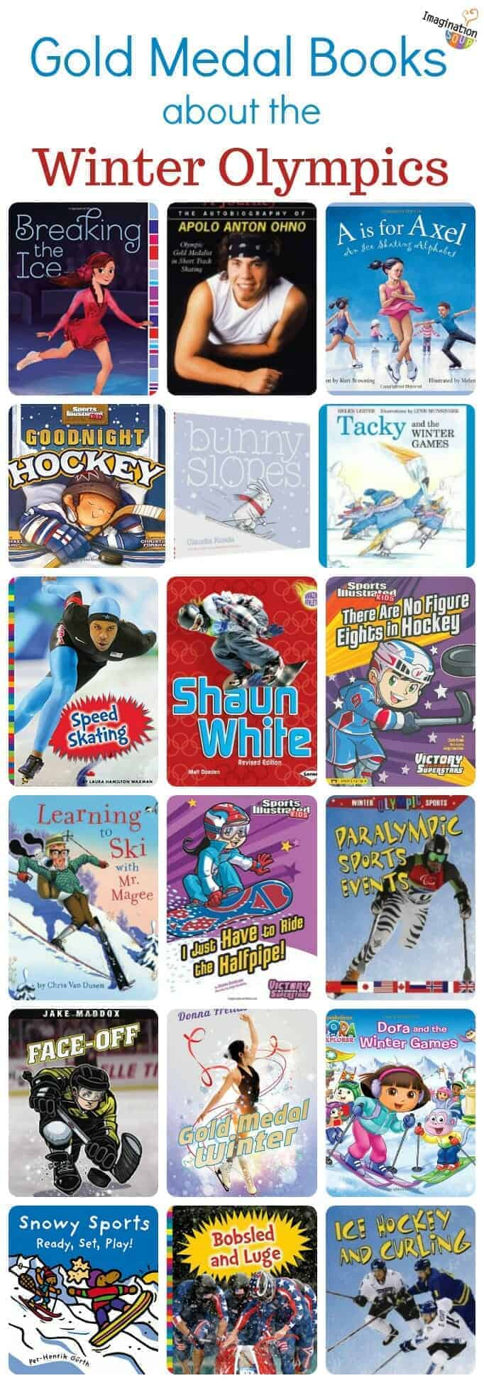 the best children's books about the winter Olympics (picture books, nonfiction, biographies, and more) #books #kids #childrensbooks #Olympics
