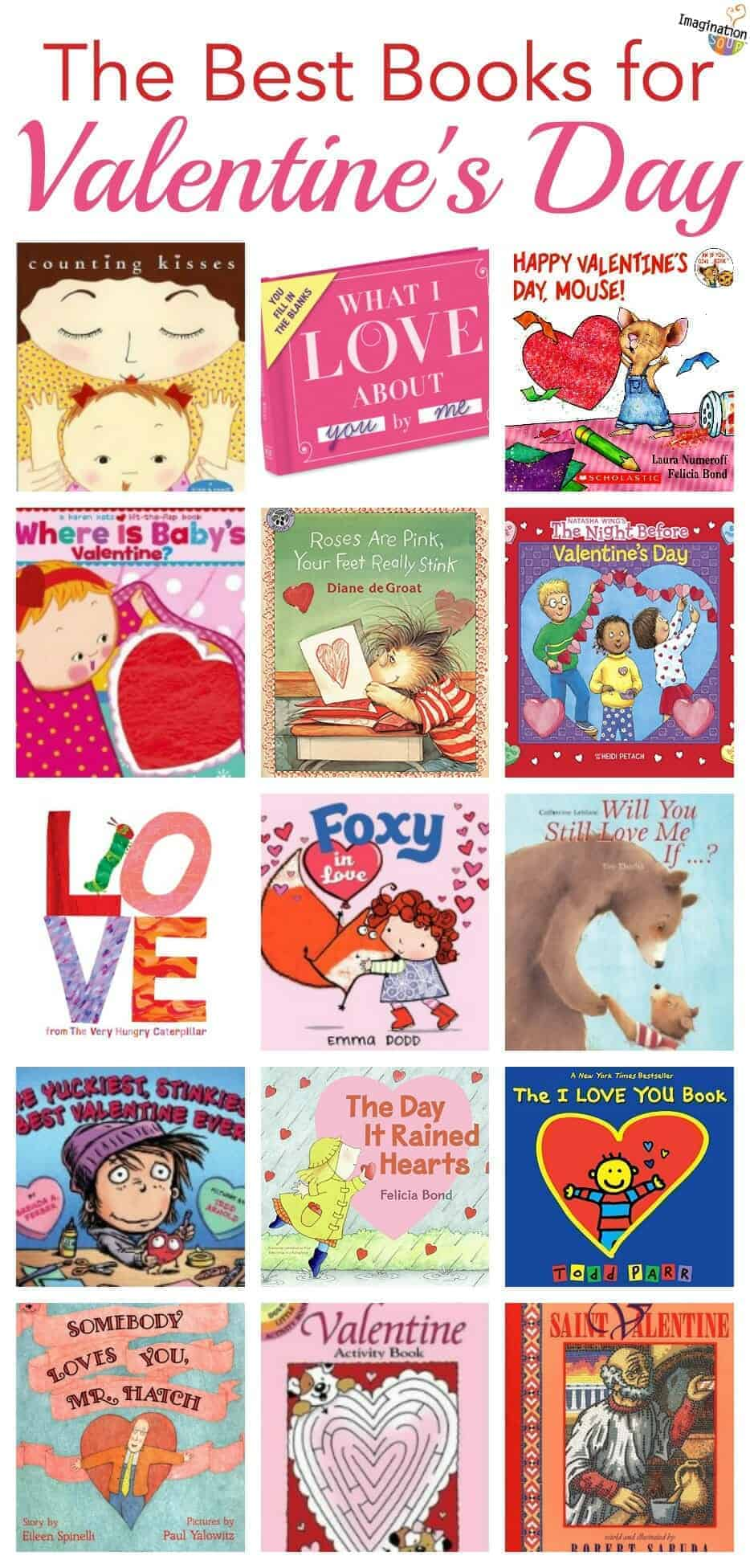 the best children's books for Valentine's Day - huge list