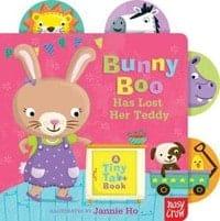 boo bunny has lost her teddy