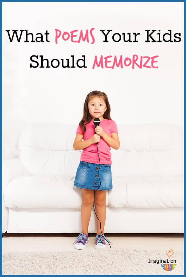 memorize a poem -- and have your kids memorize one, too! List of poetry ideas and the best anthologies.