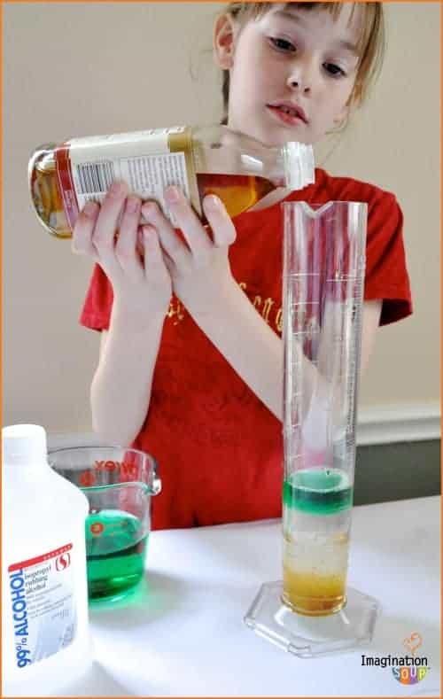 Dr. Mollie Cule Stacking Liquids Experiment