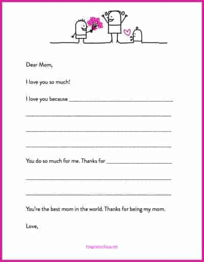 Charming Motheru0027s Day Printable Letter Template. Motheru0027s Day Template