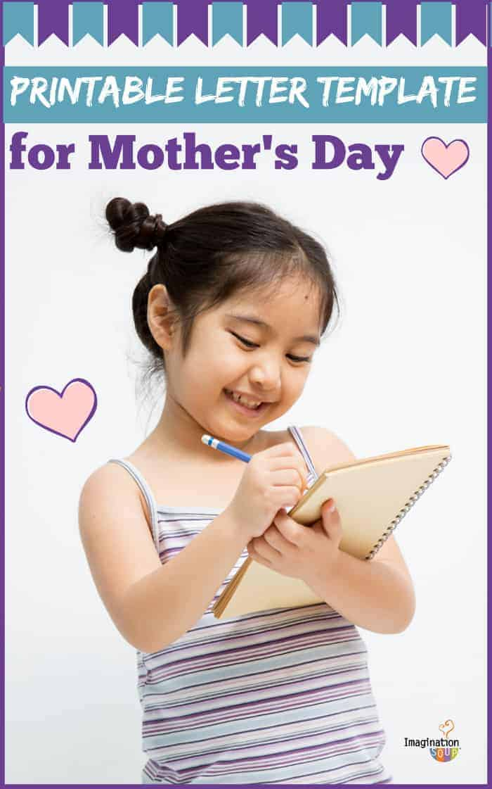 printable letter template for Mother's Day