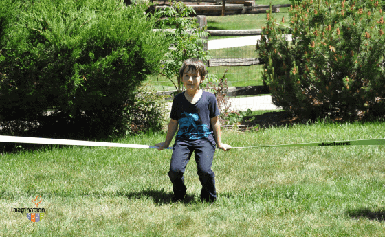 Why the Slackline is Our Favorite Backyard Activity