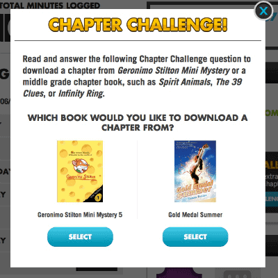 Reading Chapter Challenge Questions