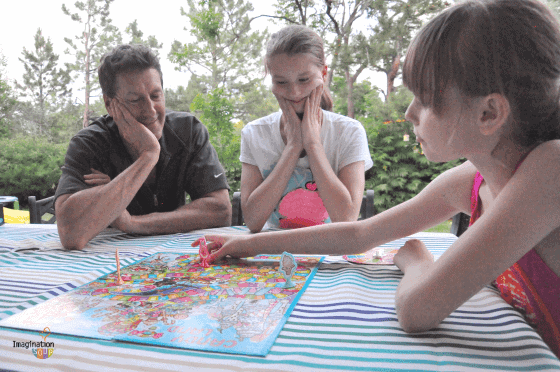 family game night with Candyland