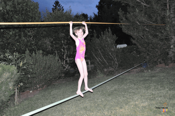 playing on the slackline