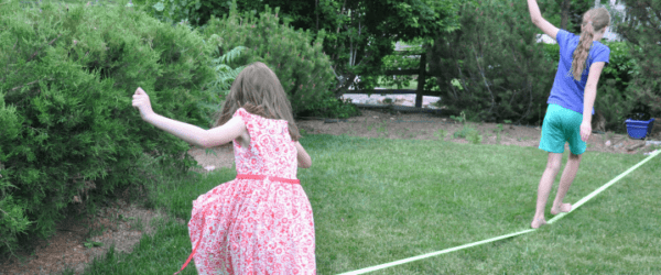 Why the Slackline is My Kids' Favorite Backyard Activity