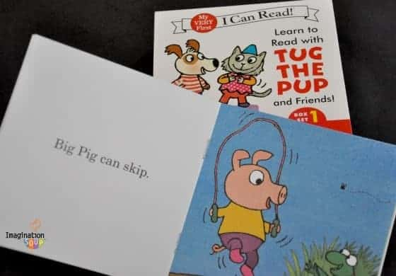 Sample page in Tug the Pup box set