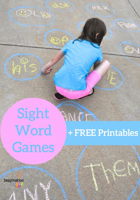 sight word games plus free printables