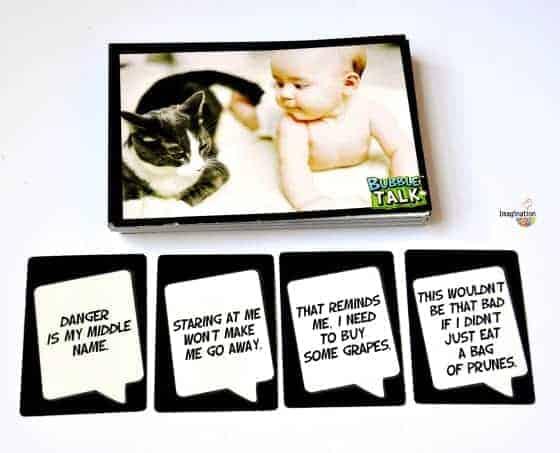 Bubble Talk language game for families