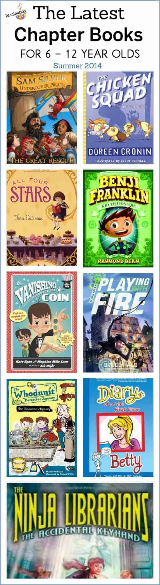 the latest middle grade chapter books for 6 to 12 year olds