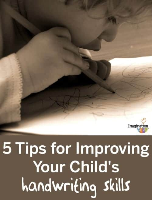 5 tips for improving your child's handwriting skills