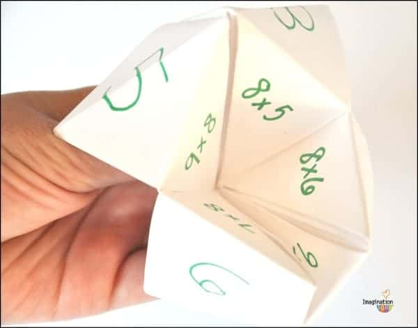 multiplication cootie catcher