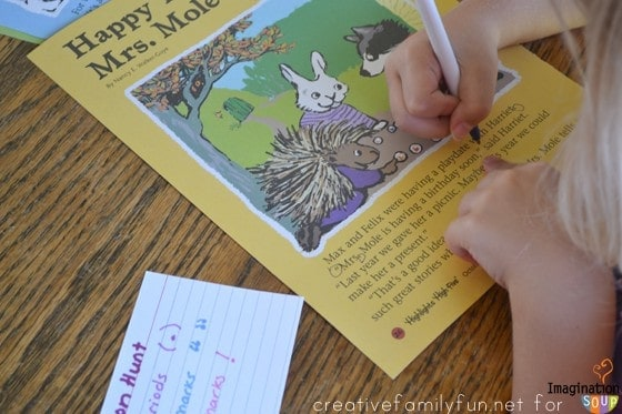 Punctuation Hunt Learning Activity for Kids