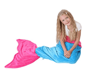 plush mermaid tail blanket gift ideas for 7 year old girls