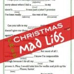 Free Printable Christmas Mad Libs